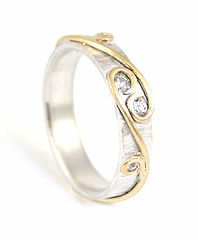 Remodelled and redesigned diamond and vine ring using sentimental inherited jewellery by HR Jewellery Designs Chichester, West Sussex