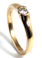 Engagement ring Redesign and Remade using inherited gold by HR Jewellery Designs West sussex