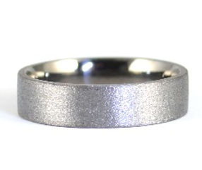 Gents unique 6mm wide 9ct White Gold Wedding Ring with a Black Rhodium Finish | west sussex jeweller