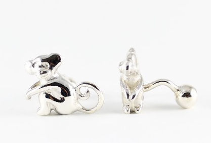Unique handmade Monkey Cufflinks | HR Jewellery Designs, Hampshire Jeweller
