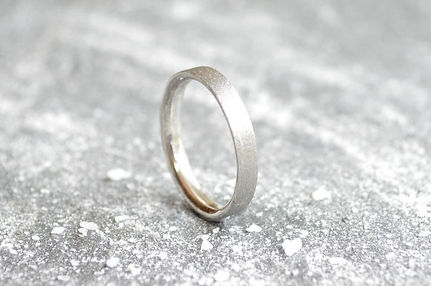 Silver 3mm rough textured Stardust ladies Wedding Band | HR Jewellery Designs West Sussex / Hampshire