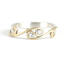 Reusing your Inherited gold and diamonds. Remodelled jewellery by HR Jewellery Designs in Hampshire