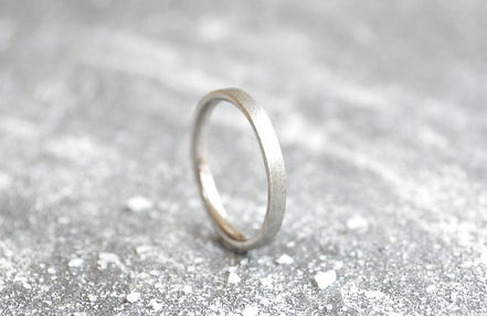 ladies 9ct White Gold 2mm textured finish wedding band | HR Jewellery Designs Southsea, Hampshire/ West Sussex