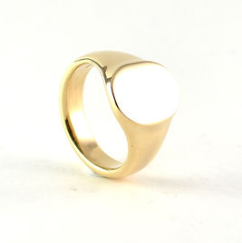 handmade signet ring using old gold by HR Jewellery Designs, Hampshire jeweller