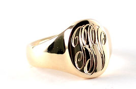Handmade signer ring made using handed down jewellery by HR Jewellery Designs in Hampshire
