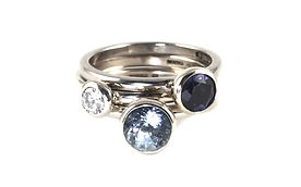 HandmadeStacking Ring Commission. Handmade Rings by HR Jewellery Designs Winchester, Hampshire