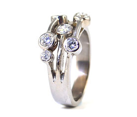 Diamond Ring Remodelled by HR Jewellery Designs Hampshire / West Sussex