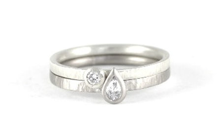 HR Jewellery Designs pear shaped diamond engagement ring, handmade wedding rings and engagement rings in west sussex, handmade engagement rings in hampshire