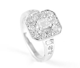 Remodelled Sentimental Gold | diamond cluster engagement ring by HR Jewellery Designs Southsea, Hampshire