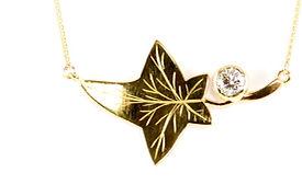 ivy leaf made using sentimental jewellery | HR Jewellery Designs