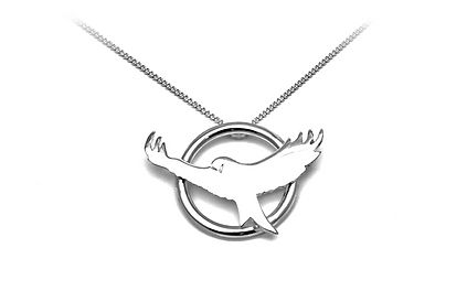 Bespoke Unique Jewellery Commission Sterling Silver Red Kite Pendant by HR Jewellery Designs