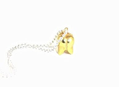 Nouveau Nurture silver gold plated bud Pendant