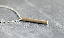 HR Jewellery Designs Silver Shooting Star Classic Drop Bar Pendant, HR Jewellery Designs West Sussex / Hampshire