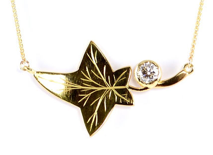 remodelled ring into ivy leaf by HR Jewellery Designs   Hampshire Jeweller