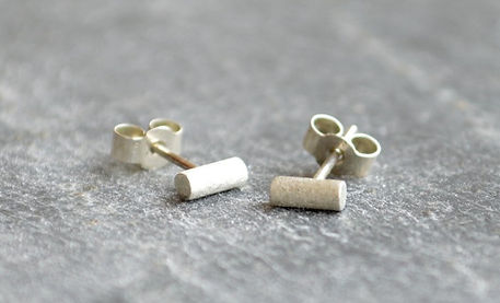 HR Jewellery Designs Holly Richardson Shooting Star handmade collection silver stud earrings, handmade west sussex, plush jewellery earrings