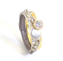 Bespoke Handmade leaf and vine diamond engagement ring by HR Jewellery Designs in Petworth, West Sussex