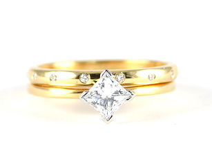 Handmade Remodelled Ring Set using old ring | HR Jewellery Designs | Jeweller in Chichester
