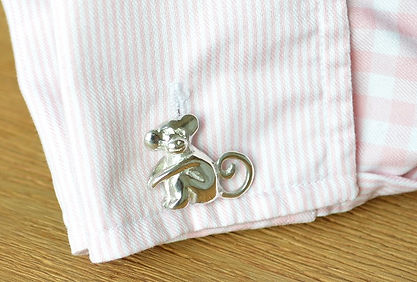 Bespoke silver Monkey Cufflinks | unique jewellery commissions by HR Jewellery Designs, West Sussex/ Hampshire