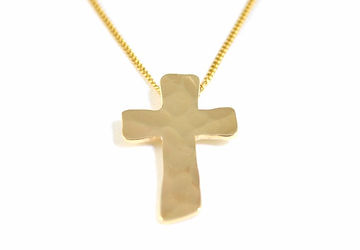 Jewellery commission 9ct yellow gold cross by HR Jewellery Designs, Hampshire / West Sussex