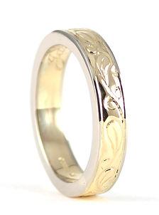 Bespoke Hand Engraved handmade Wedding Ring by HR Jewellery Designs Hampshire