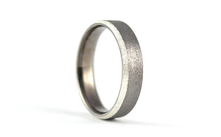 HR Jewellery Designs Mens Chamfered Edge Silver 5mm two colour Blaze Wedding Ring | West Sussex / Hampshire