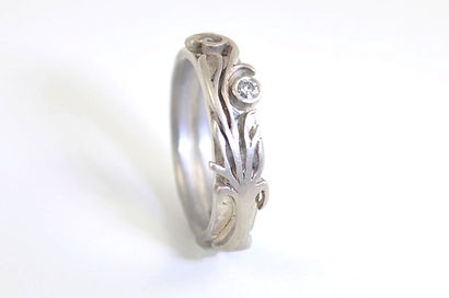 Tree of Life Engagement Ring and Wedding Band Commission by HR Jewellery Designs in West Sussex