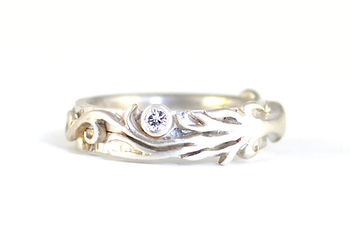 Bespoke Handmade tree of life engagement ring Commission by HR Jewellery Designs near Chichester West Sussex