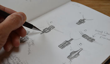 Bespoke necklace designs and sketches by HR Jewellery Designs Hampshire / West Sussex