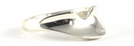 Bespoke White Gold Shaped Wedding Ring by HR Jewellery Designs