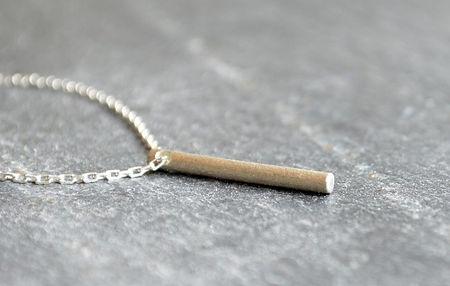 HR Jewellery Designs | Shooting Star handmade collection silver bar pendant