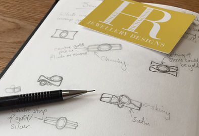 Ring designs for an inherited Amythest stone by HR Jewellery Designs | Hampshire Bespoke Jeweller