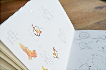 Red Kite Pendant sketches for HR Jewellery Designs jewellery commission | Chichester jewellery designer