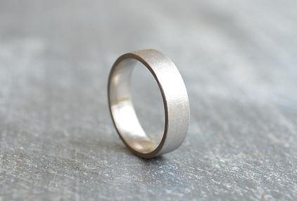 Mens Palladium flat court 5mm rough textured Stardust Wedding Band   HR Jewellery Designs West Sussex / Hampshire