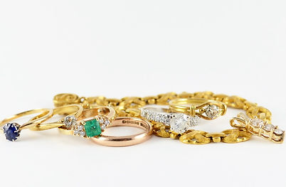 Melt down unworn jewellery HR Jewellery Designs Hampshire area | remodelled stacking ring set
