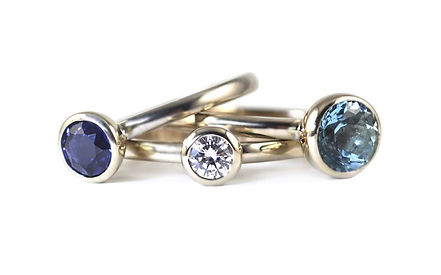 Unique handmade stacking ring by HR Jewellery Designs | West Sussex Jeweller