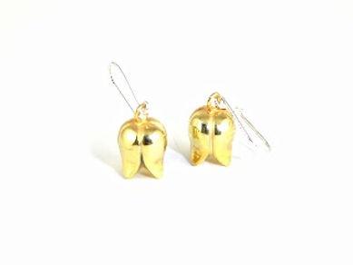 Nouveau Nurture silver Gold Plated Drop Earrings