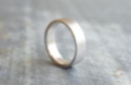 HR Jewellery Designs 9ct White Gold Gents 6mm textured Stardust Wedding Band | Hampshire / West Sussex