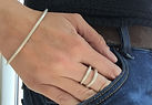 HR Jewellery Designs Holly Richardson Shooting Star bangle and double halo ring, handmade west sussex, plush jewellery
