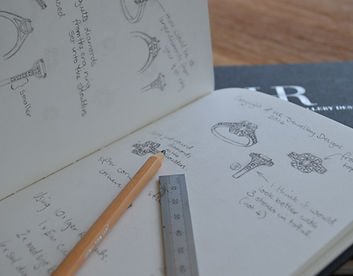 holly richardson freelance jewellery designer sketches and designs