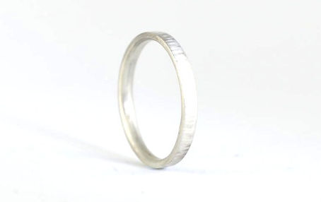 Ladies Linear hammered texture 2mm wide Silver wedding ring | HR Jewellery Designs in west sussex/ hampshire