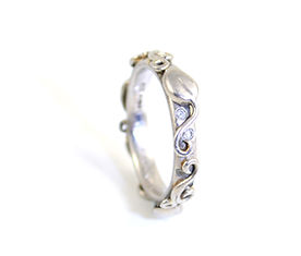 Leaf and Vine Ring Commission Handmade by HR Jewellery Designs Southampton, Hampshire