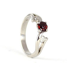 Unique Handmade three stone engagement ring Commission by HR Jewellery Designs Chichester West Sussex / Hampshire
