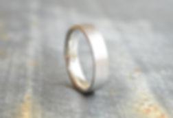 HR Jewellery Designs flat court Gents Silver 5mm textured Stardust Wedding Band | West Sussex / Hampshire jeweller