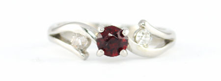 Platinum 3 stone Ruby and Diamond Ring by HR Jewellery Designs Handmade in West Sussex, Hampshire