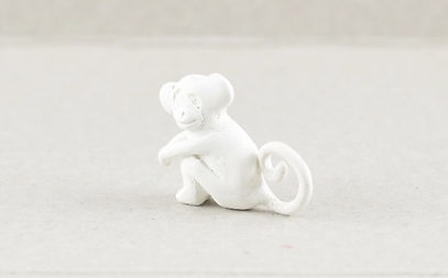 Monkey carved ready for casting in Sterling Silver by HR Jewellery Designs