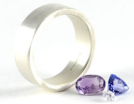 Amethyst, Tanzanite and diamond to be set into remade wide ring | HR Jewellery Designs, Hampshire