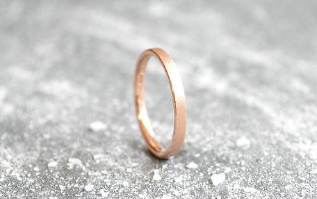 Ladies flat court 9ct Rose Gold 2mm textured Stardust Wedding Band | HR Jewellery Designs West Sussex / Hampshire