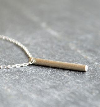 Solid Silver Bar Pendant 'Shooting Star jewellery collection' by HR Jewellery Designs in West Sussex / Hampshire
