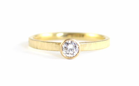 18ct Yellow Gold and diamond engagement ring, handmade wedding rings and engagement rings in west sussex, handmade engagement rings in hampshire
