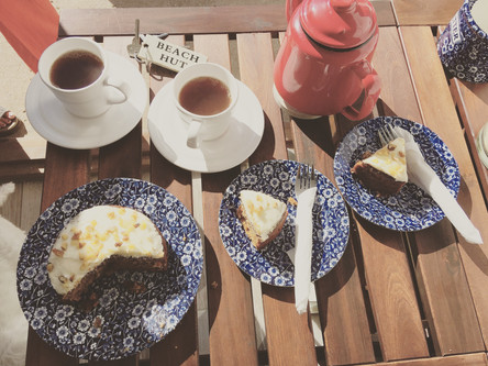 Tea and carrot cake